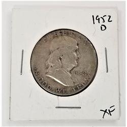 1952-D Benjamin Franklin Half Dollar XF