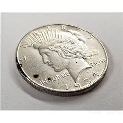 1934-P Silver Peace Dollar