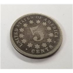 1867 Shield Nickel 5 Cent