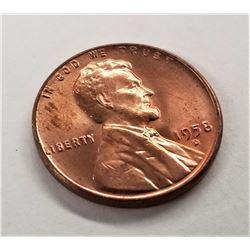 1958-D Lincoln Wheat Cent AU