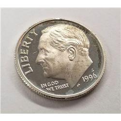 1996-S Roosevelt Dime