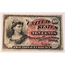 10 Cent 1863 Fractional Note 4th Issue