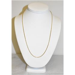 "Stamped 10k Yellow Gold 22"" Rope Chain Necklase 4.4 grams"