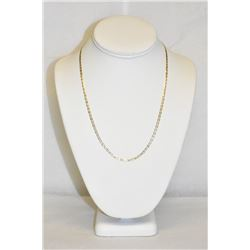 "14k Tri-Tone White, Yellow, and Rose Gold 20"" Necklase 4.4 grams"