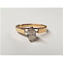 BEAUTIFUL STAMPED 14K GOLD RING WITH 1 CARAT DIAMOND SIZE 8, 3.2 GRAMS