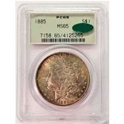 1885 $1 MS65 PCGS CAC Morgan Silver Beautiful Toning