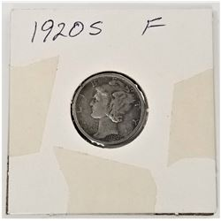 1920-S Mercury Dime F