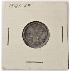 1918-S Mercury Dime XF