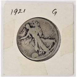 1921-P Walking Liberty Half Dollar G