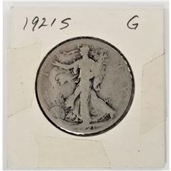 1921-S Walking Liberty Half Dollar G