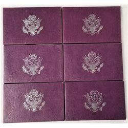 (6) United States Mint Proof Sets 1984, 1985, 1986, 1987, 1988, 1989