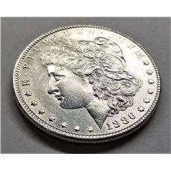 1886-P AU Morgan Silver Dollar