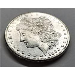 1890-S AU Morgan Silver Dollar