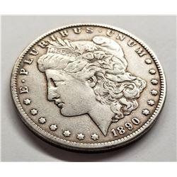 1890-CC VF+ Morgan Silver Dollar
