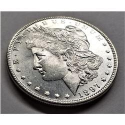 1897-P MS63 PL Morgan Silver Dollar