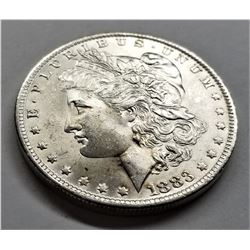 1883-O MS63+ Morgan Silver Dollar