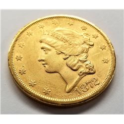 1872-S $20 Liberty Gold Uncirculated Detail