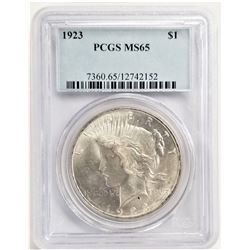 1923 S$1 MS65 PCGS PEACE DOLLAR