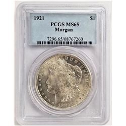 1921 S$1 MS65 PCGS MORGAN SILVER DOLLAR