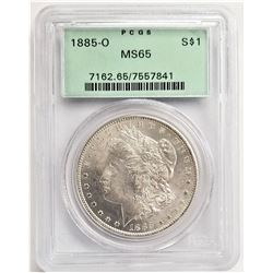 1885-O S$1 MS65 PCGS MORGAN SILVER DOLLAR OGH