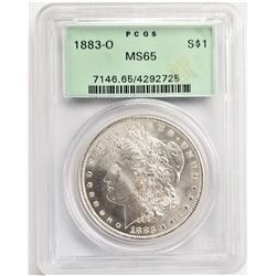 1883-O S$1 MS65 PCGS MORGAN SILVER DOLLAR OGH