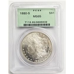 1880-O S$1 MS65 PCGS MORGAN SILVER DOLLAR OGH