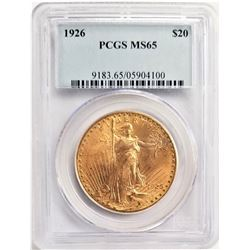 1926 $20 MS65 PCGS SAINT GAUDENS DOUBLE EAGLE