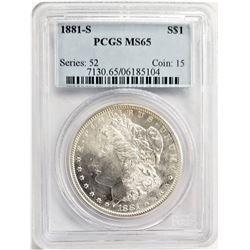 1881-S S$1 PCGS MS65 MORGAN SILVER DOLLAR SERIES: 52 COIN: 15