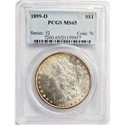 1899-O S$1 PCGS MS65 MORGAN SILVER DOLLAR SERIES: 52 COIN: 76