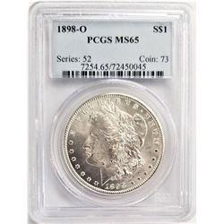 1898-O S$1 PCGS MS65 MORGAN SILVER DOLLAR SERIES: 52 COIN: 73