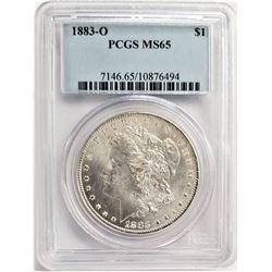 1883-O $1 PCGS MS65 MORGAN SILVER DOLLAR