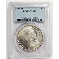 1899-O $1 PCGS MS65 MORGAN SILVER DOLLAR
