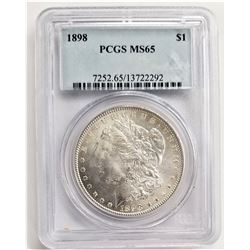 1898 S$1 PCGS MS65 MORGAN SILVER DOLLAR