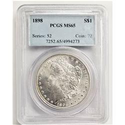 1898 S$1 PCGS MS65 MORGAN SILVER DOLLAR SERIES: 52 COIN: 72