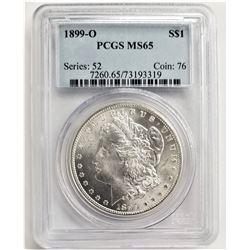 1899-O $1 PCGS MS65 MORGAN SILVER DOLLAR SERIES: 52 COIN: 76