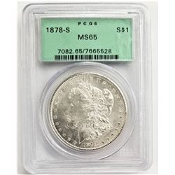 1878-S S$1 MS65 PCGS MORGAND SILVER DOLLAR OGH