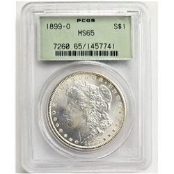 1899-O $1 PCGS MS65 MORGAN SILVER DOLLAR OGH