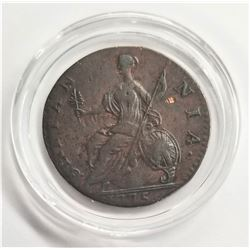 1775 Possible Counterfeit Great Britain 1/2 Penny