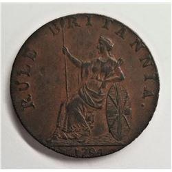 1794 Hampshire #15 Conder Token 1/2 Penny