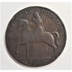 1792 Godiva Token Warwickshire #231 1/2 Penny