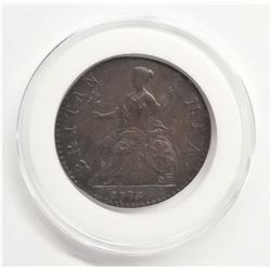 1773 Great Britain 1/2 Penny XF Details
