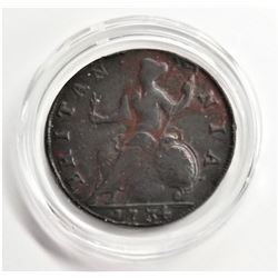 1734 George II Half-Penny