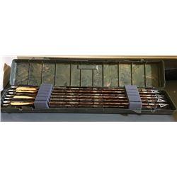 SET OF 12, EASTON, SUPER SLAM ARROWS W/ HUNTING TIP & CASE