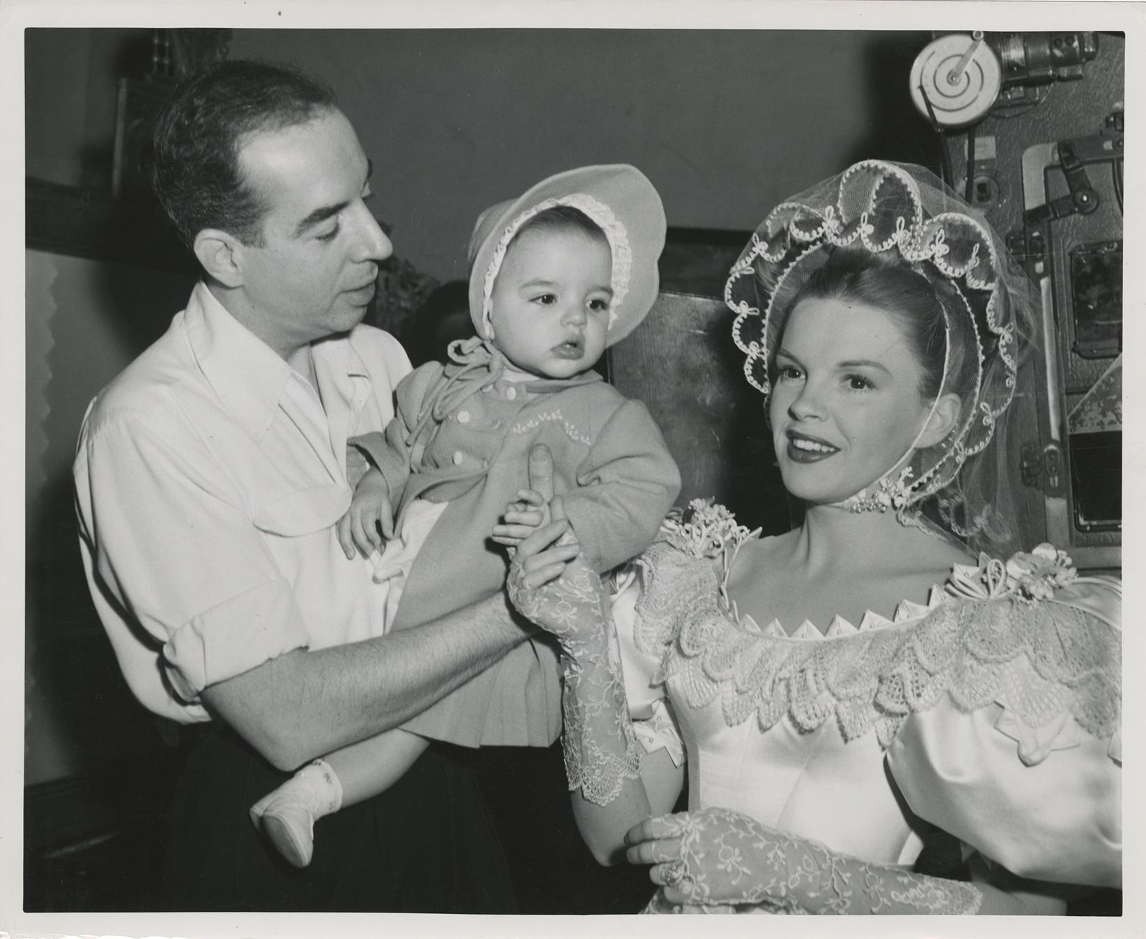 Liza Minnelli baby photograph on set of The Pirate with Judy Garland and  Vincente Minnelli