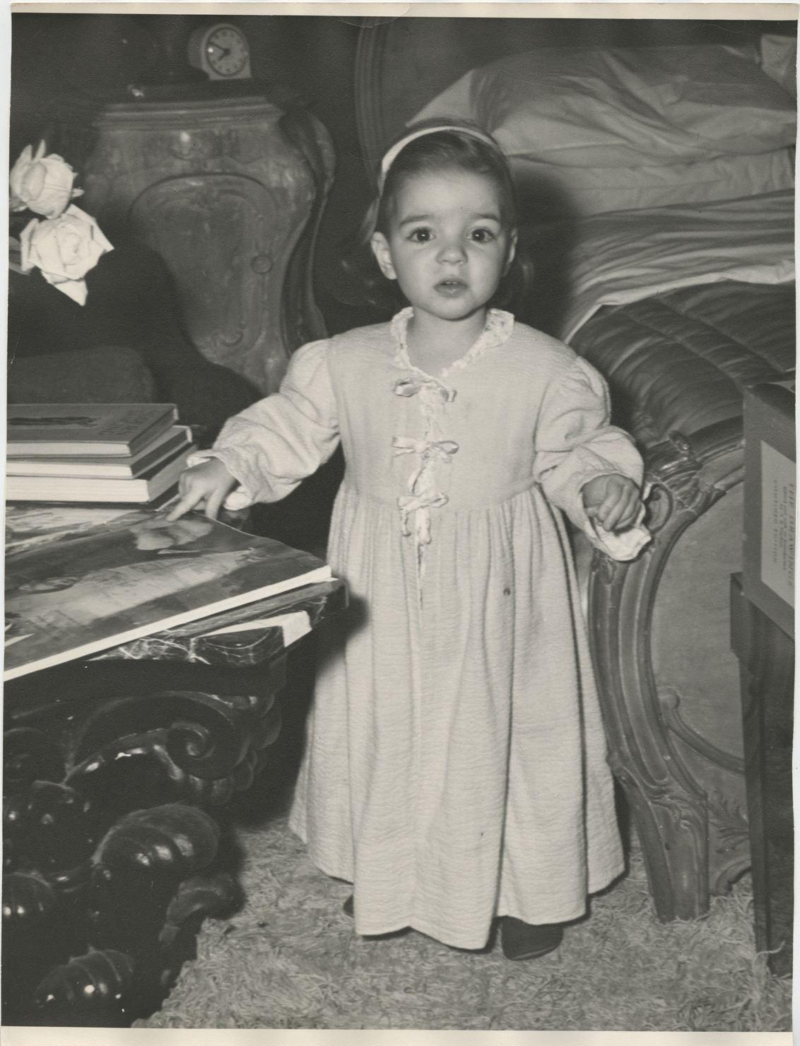Liza Minnelli (2) childhood oversize portrait photographs