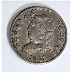 1831 CAPPED BUST HALF DIME, XF/AU
