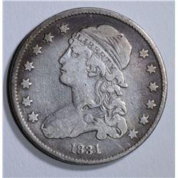 1831 BUST QUARTER, F/VF
