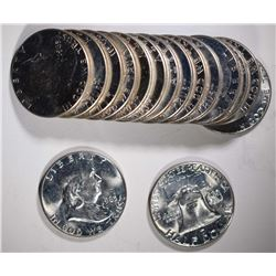 15 - 1963 FRANKLIN HALF DOLLARS CHBU
