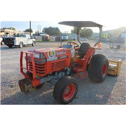 2003 KUBOTA L4300DT Farm Tractor; VIN/SN:53367 -:- MFWD, rear mtd. Alamo flail mower, Kubota diesel,