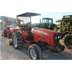 2008 MASSEY FERGUSON MF1552 Farm Tractor; VIN/SN:JSB03203 -:- MFWD, rear mtd. Alamo flail mower, can